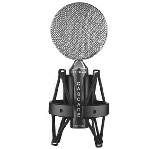 Cascade Microphones FAT HEAD Ribbon Microphone (Black Body and Silver Grill, Cinemag CM9888 Transformer)