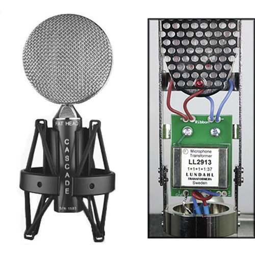 Cascade Microphones FAT HEAD Ribbon Microphone (Black Body and Silver Grill, Lundahl LL2912 Transformer)