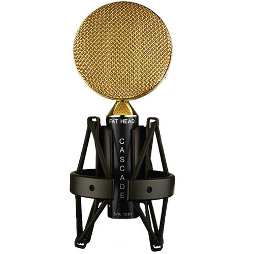 Cascade Microphones FAT HEAD Ribbon Microphone (Black Body and Gold Scoop Grill, Stock Transformer)