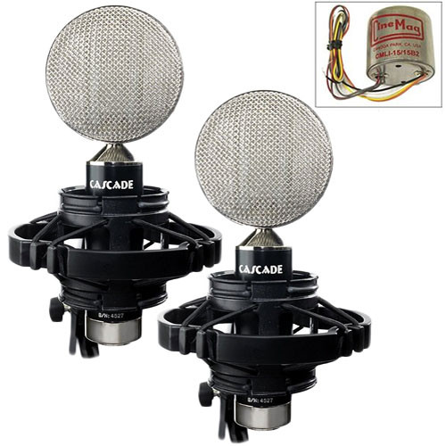Cascade Microphones FAT HEAD II Ribbon Microphones (Black Body and Silver Grille, Cinemag CM9888 Transformer)