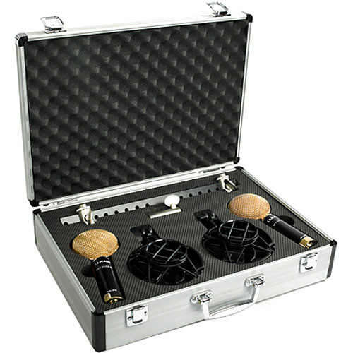 Cascade Microphones FAT HEAD II Ribbon Microphones (Black Body and Gold Scoop Grille, Lundahl LL2912 Transformer)