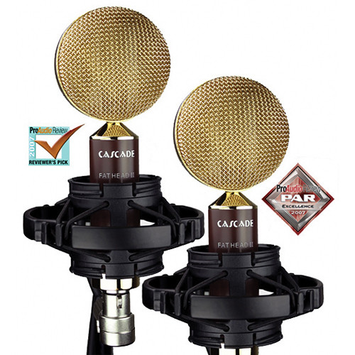 Cascade Microphones FAT HEAD II Ribbon Microphones (Brown Body and Gold Grille, Stock Transformer)