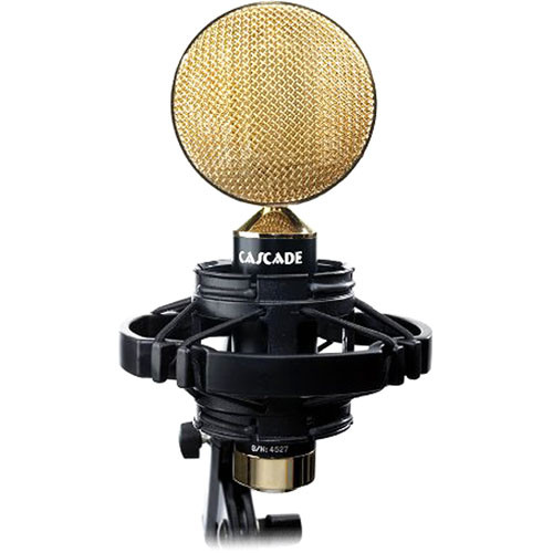 Cascade Microphones FAT HEAD II Live Ribbon Microphone (Black/Gold)