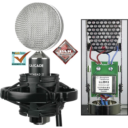Cascade Microphones FAT HEAD II Ribbon Microphone (Black/Polished Nickel)
