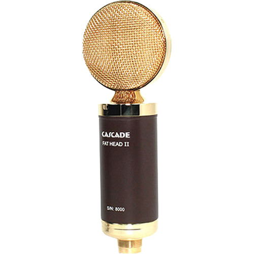 Cascade Microphones FAT HEAD II Ribbon Microphone (Brown Body / Gold Grille)