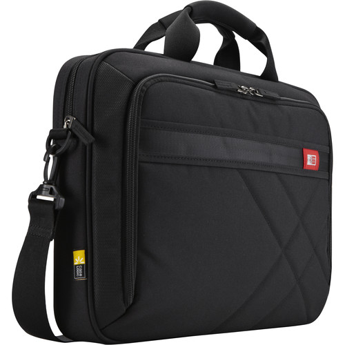 """Case Logic 15.6"""" Laptop and Tablet Case (Black/Red Accents)"""