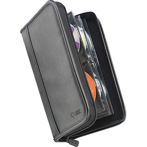 Case Logic KSW-64 64 Capacity CD Wallet - holds 64 + 8 CDs or DVDs without Jewel Cases (Black Koskin)