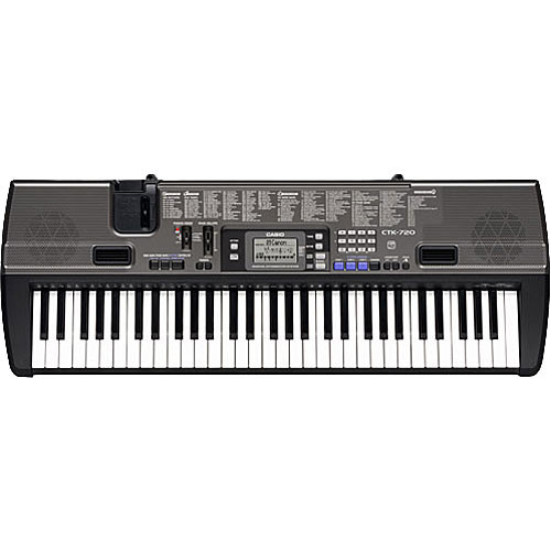 casio ctk 720 61 key portable keyboard ctk720 b h photo video. Black Bedroom Furniture Sets. Home Design Ideas