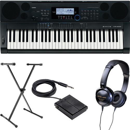 Casio CTK-6000 61-Key Keyboard Basics B&H Kit B&H Photo