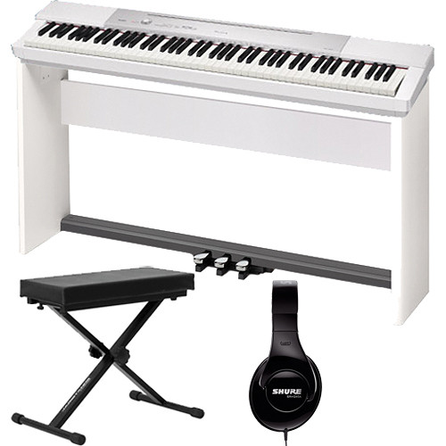 Casio PX-150 88-Key Piano Home Studio Bundle (White)