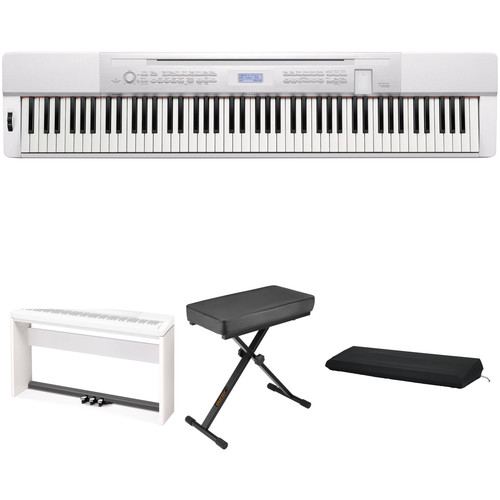 Casio PX-350 88-Key Piano Home Studio Bundle (White)