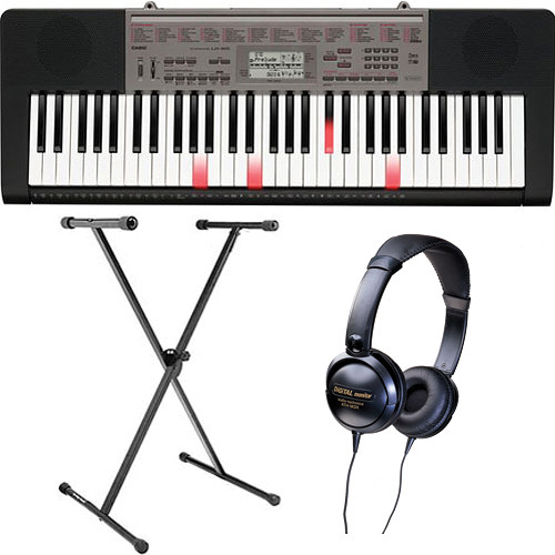 Casio LK-165 Portable Keyboard Basics B&H Kit