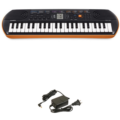 casio sa 76 portable keyboard kit b h photo video. Black Bedroom Furniture Sets. Home Design Ideas