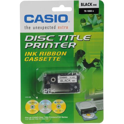 Casio Black Ink Ribbon Cassette for Casio CW-50 & CW-75 CD Label Printers