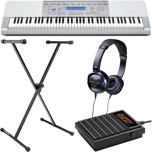 Casio WK-225 Portable Keyboard Basics B&H Kit