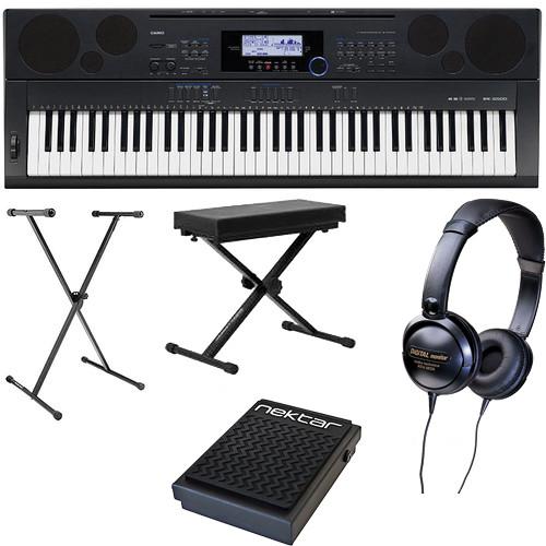 Casio WK-6500 76-Key Keyboard Basics B&H Kit