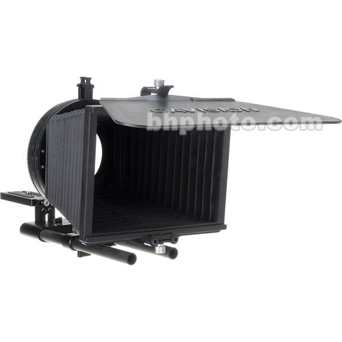 Cavision 4x4 Bellows Matte Box Kit - for DVX-100 and XL2, 15mm Rod Support, French Flag, 72mm Adapter