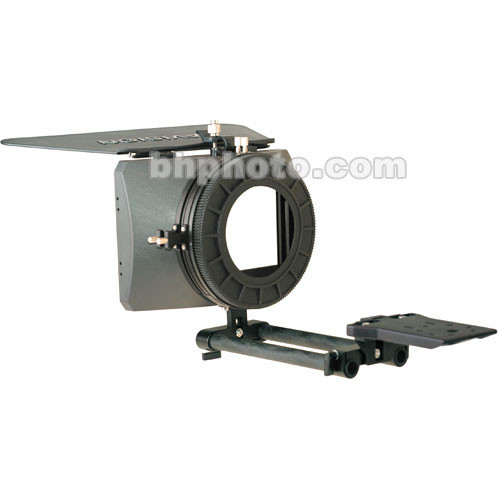 Cavision 4x5.65 Hard Shade Matte Box Kit - for JVC GY-HD100U Camcorder, 15mm Rod Support, French Flag, 82mm Adapter