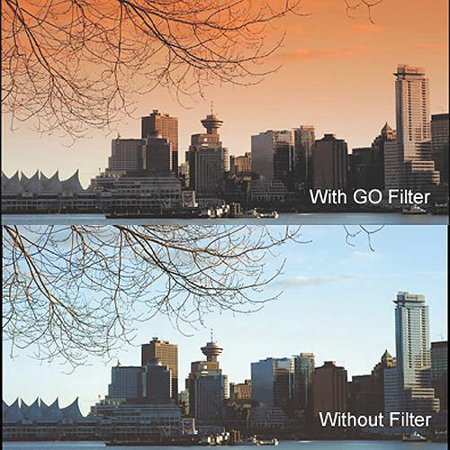 "Cavision 3 x 3"" Soft-Edge Graduated Orange 0.9 Filter (3-Stop)"