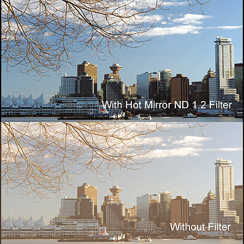 """Cavision 3 x 3"""" Hot Mirror Neutral Density 1.2 Filter"""