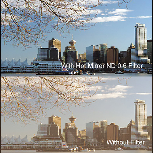"""Cavision 5.65 x 5.65"""" Hot Mirror Neutral Density 0.6 Filter"""
