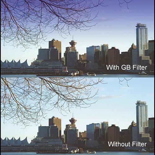 "Cavision 6.6 x 6.6"" Soft-Edge Graduated Blue 0.6 Filter (2-Stop)"