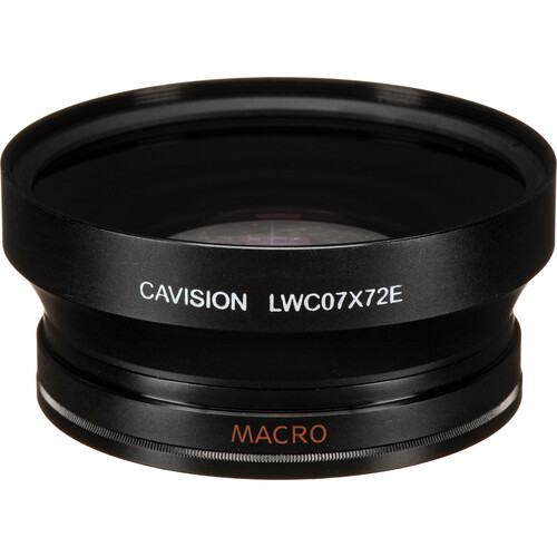 Cavision LWC07X62E Two Element 0.7x Wide Angle Converter for Sony V1 (62mm)