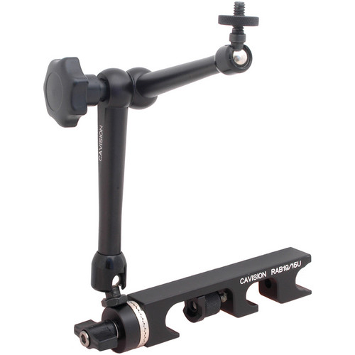 Cavision Articulating Accessory/Monitor Arm with 15/19mm Rod Bracket