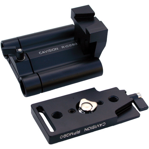 Cavision RQ1580R Reversed Version Quick Release Plate, Riser & Bracket