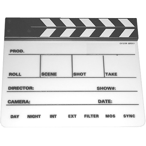 Cavision SSN2819 Professional Production Slate with Clapper Sticks