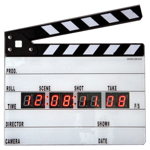 Cavision Professional Production Slate with Clapper Sticks