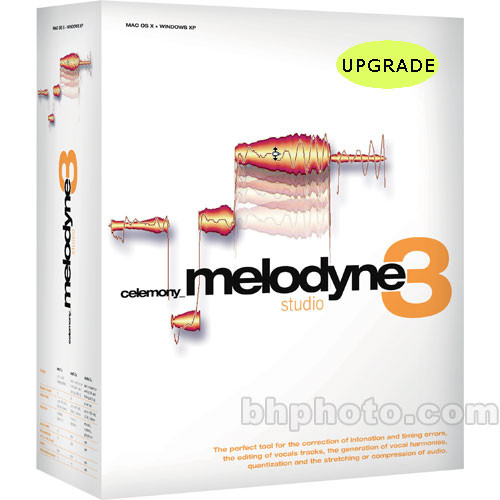 Celemony Melodyne3 studio bundle - Pitch Shifting and Time Stretching Software (Upgrade)