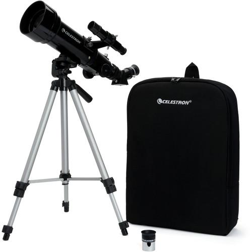 Celestron Travel Scope 70mm f/5.7 AZ Refractor Telescope Kit