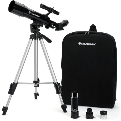 Celestron Travel Scope 50mm f/7.2 AZ Refractor Telescope Kit