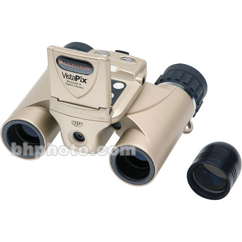 "Celestron VistaPix 8x22 Binocular with 3.0 MP Digital Camera with Video/Audio and 1.5"" LCD Display"