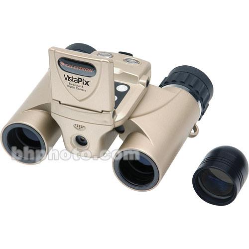 "Celestron VistaPix 8x22 Binocular with 3.0 MP Digital Camera with Video/Audio and 1.5"" LCD Display"