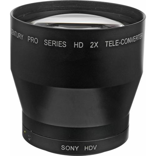 Century Precision Optics 0HD-20TC-SH6 2.0x Telephoto Converter Lens for Sony HVR-V1U and HDR FX7