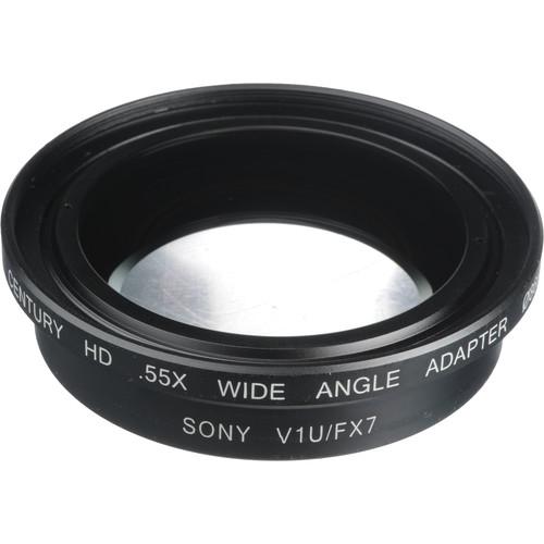 Century Precision Optics 0HD-55WA-SH6 0.55x Wide Angle Converter Lens - - Sony HDR-FX7 and HDR-V1U HDV Camcorders