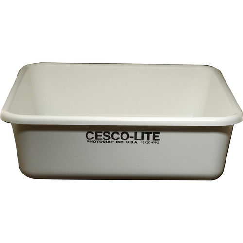 "Cescolite Plastic Deep Hypo Bath Developing Tray - 16x20"""