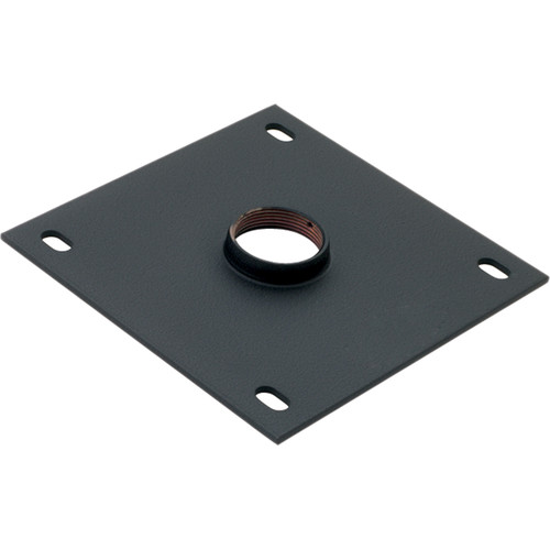 """Chief 8 x 8"""" Ceiling Plate with 1.5"""" NPT Fitting (Black)"""