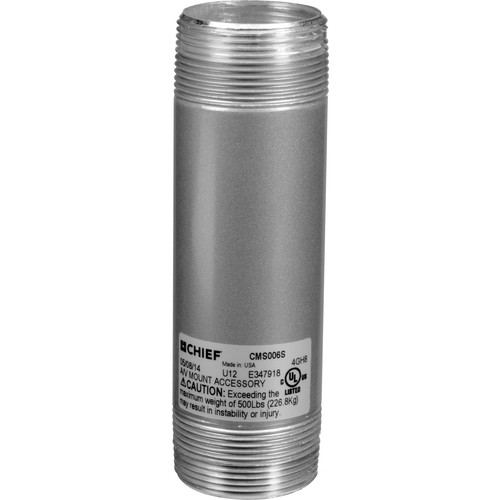 """Chief CMS-006S 6"""" Speed-Connect Fixed Extension Column (Silver)"""