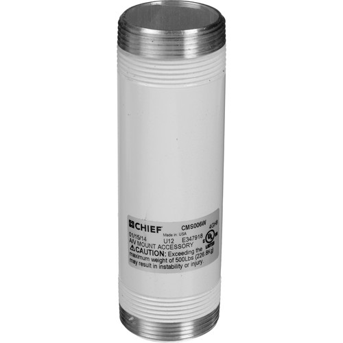 """Chief CMS-006W 6"""" Speed-Connect Fixed Extension Column (White)"""