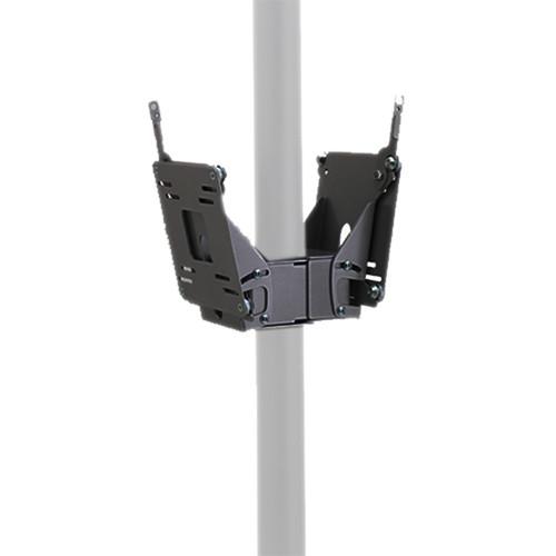 Chief FDP-4202B Dual Small Flat Panel Display Pole Mount (Black)