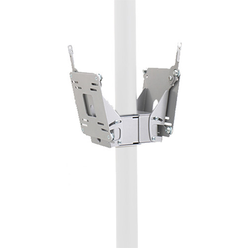 Chief FDP-4202S Dual Small Flat Panel Display Pole Mount (Silver)