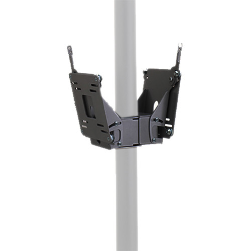 Chief FDP-4210B Dual Small Flat Panel Display Pole Mount (Black)
