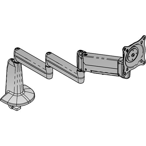 Chief KCB110S  Flat Panel Height-Adjustable Triple Arm Desk Mount (Silver)