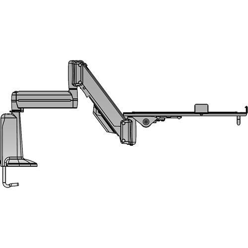 "Chief KGL110 20"" (508mm) Adjustable Laptop Desk Mount (Silver)"