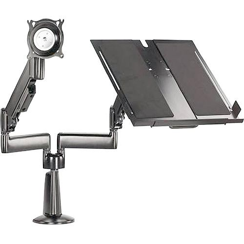 Chief KGL220 Height-Adjustable Monitor/Laptop Dual Arm Desk Mount (Silver)