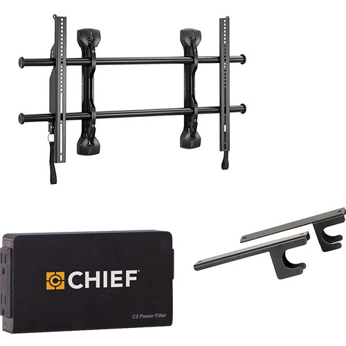 "Chief Fusion Universal Flat Panel Micro-Adjustable Fixed Wall Mount Kit for 37-63"" Displays"