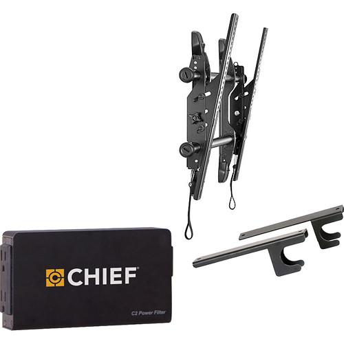 "Chief Fusion Universal Micro-Adjustable Tilt Wall Mount Kit for 37-63"" Displays"